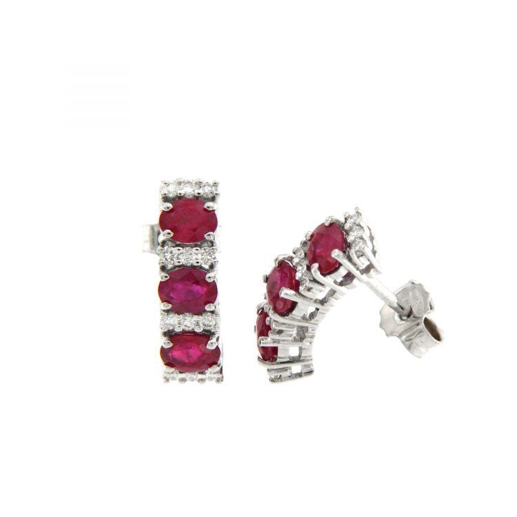 E4311Rbis orecchini trilogy rubini diamanti earrings diamonds ruby sconto discount