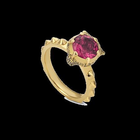Anello Gucci Le Marché des Merveilles Tormalina rosa