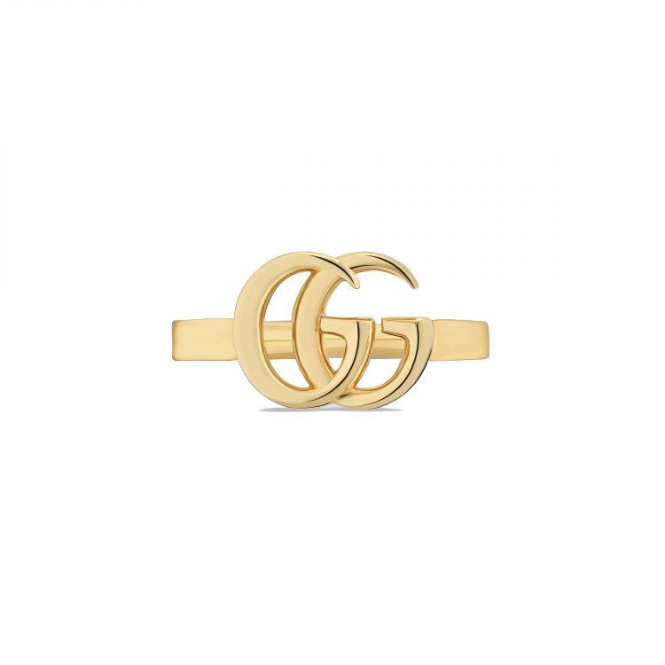 Anello Gucci oro giallo GG Running
