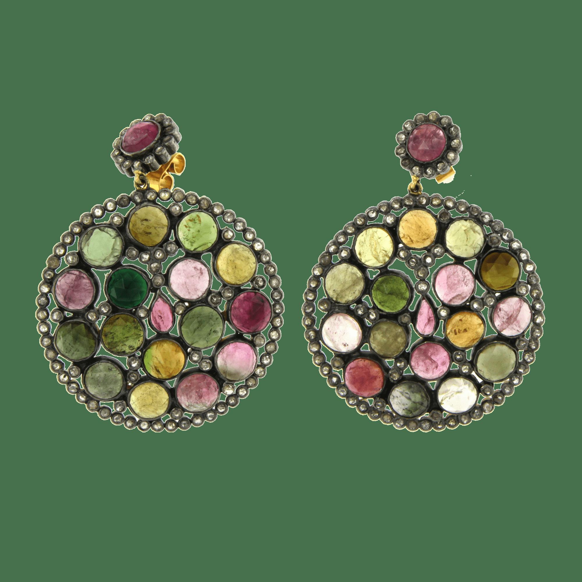 Orecchini tondi Oriental Black Diamonds