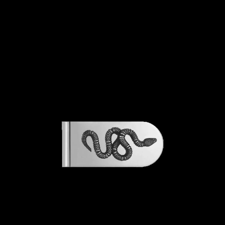 Fermasoldi Gucci serpente in argento