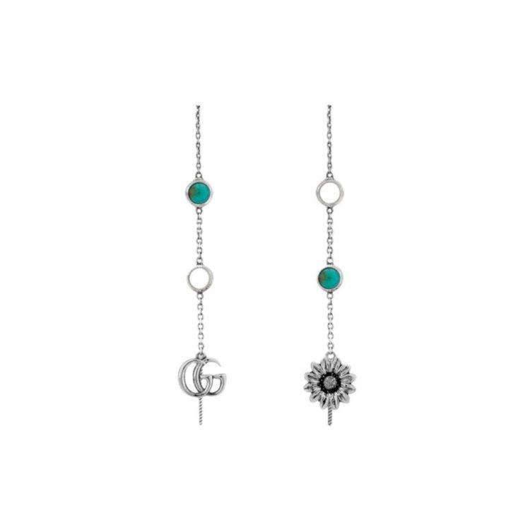 ORECCHINI GUCCI GG MARMONT PENDENTI asimmetric earrings sconto discount