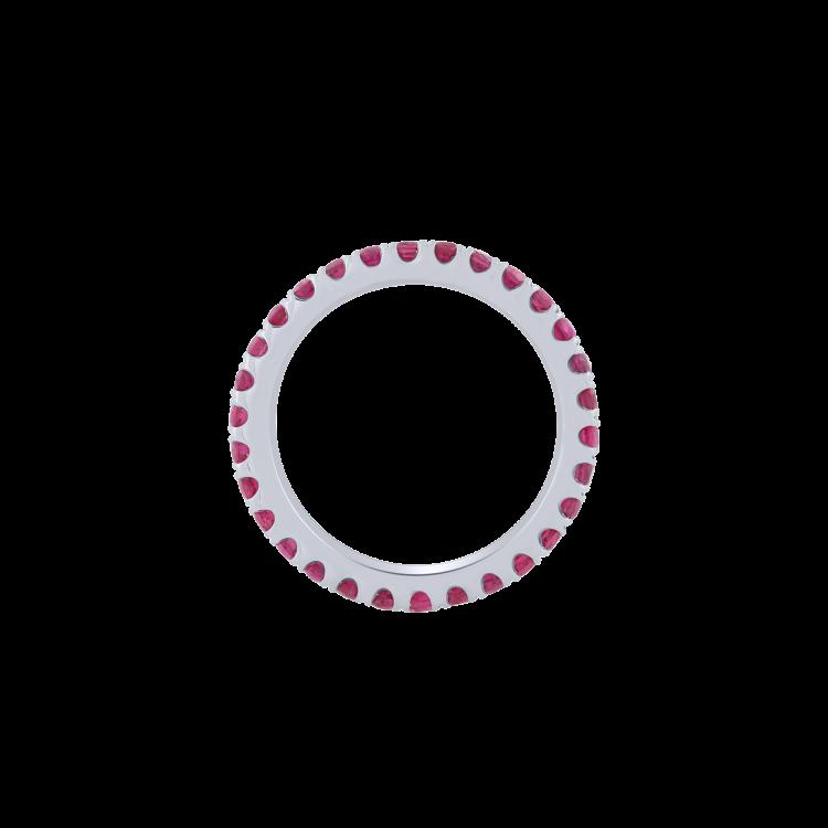 Anello veretta Eternelle rubini grande