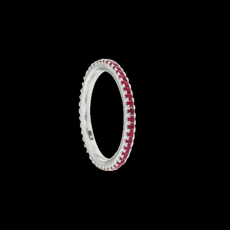 Anello veretta Eternelle piccola rubini
