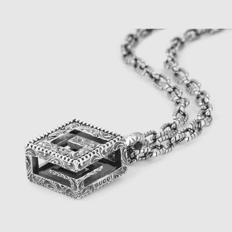 Collana con cubo G Quadro in argento