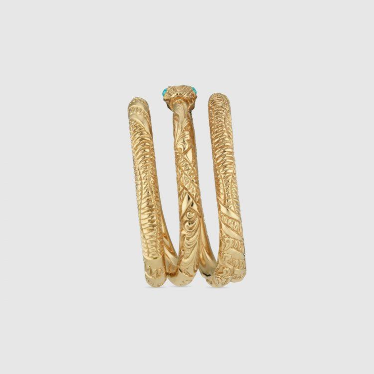 Anello GUCCI Ouroboros in oro giallo