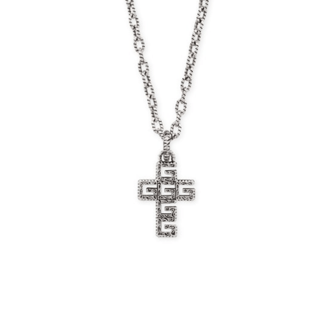 collana croce gucci necklace