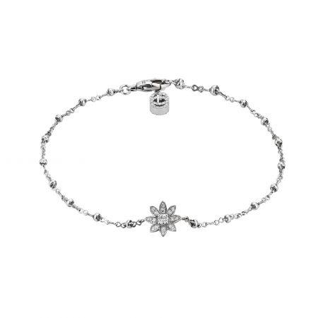 Gucci Flower bracelet with diamonds