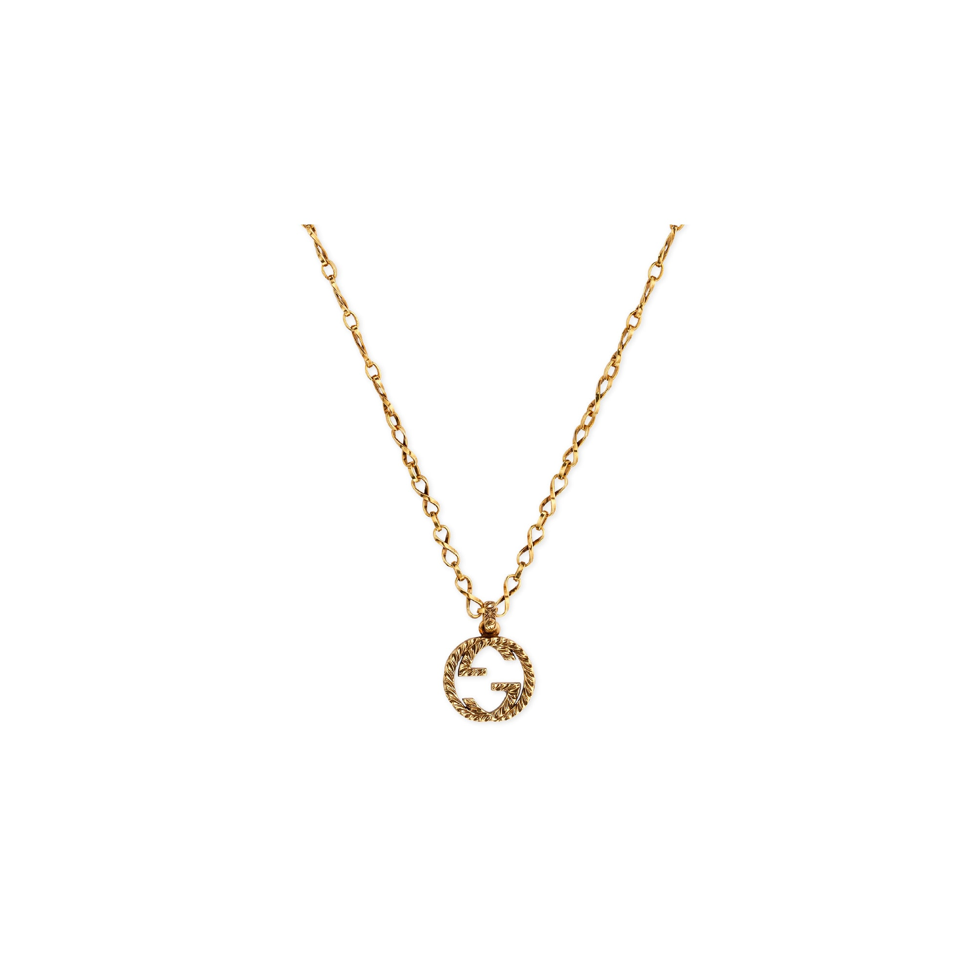 GUCCI Yellow gold necklace with Interlocking G COLLANA DISCOUNT SCONTO