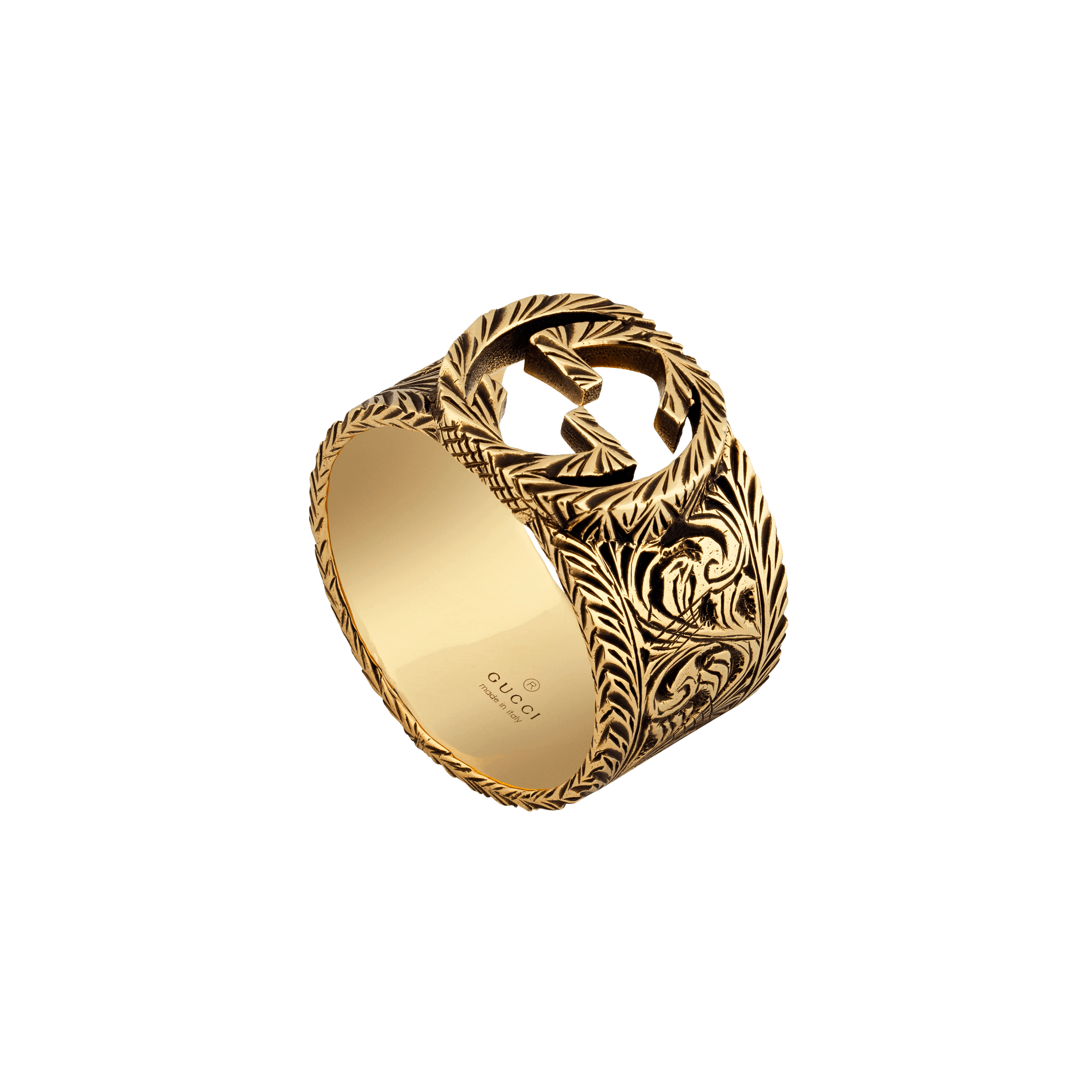 GUCCI Yellow gold ring with Interlocking G DISCOUNT SCONTO ANELLO