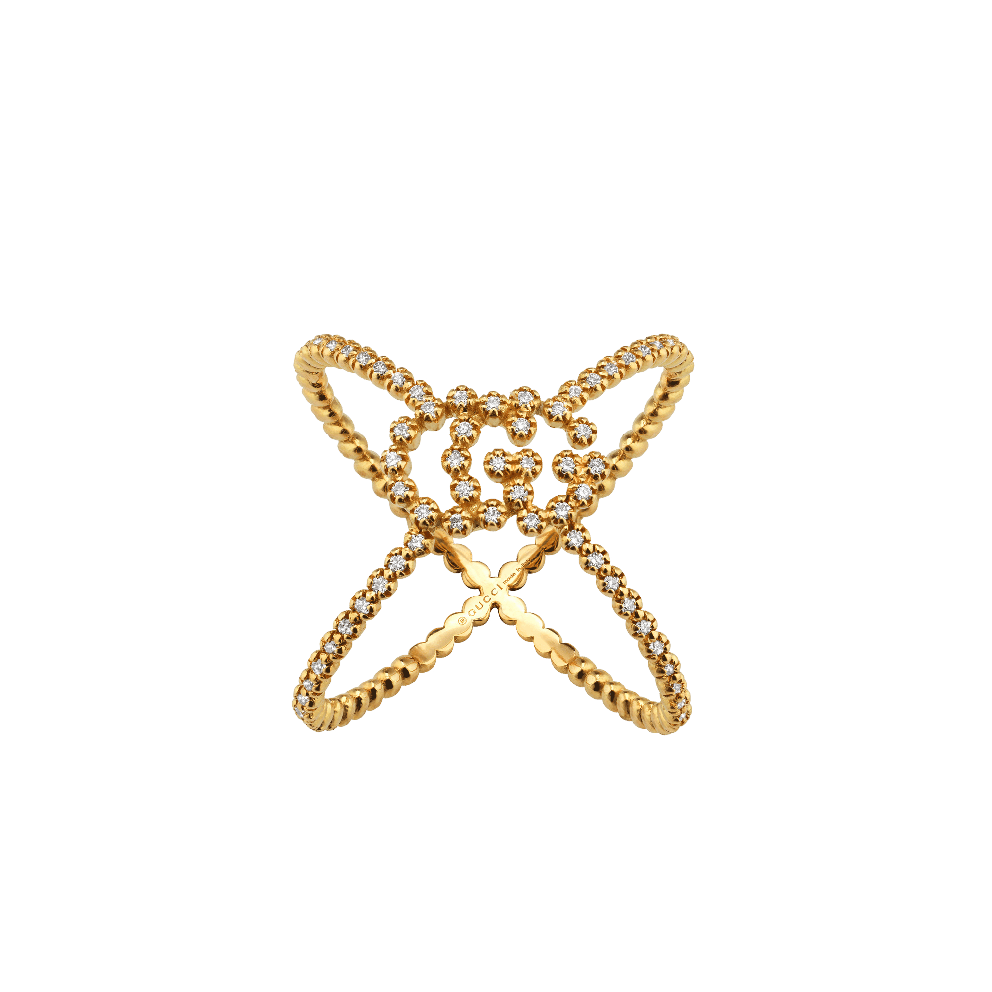 Gucci GG Gucci Running diamond X ring