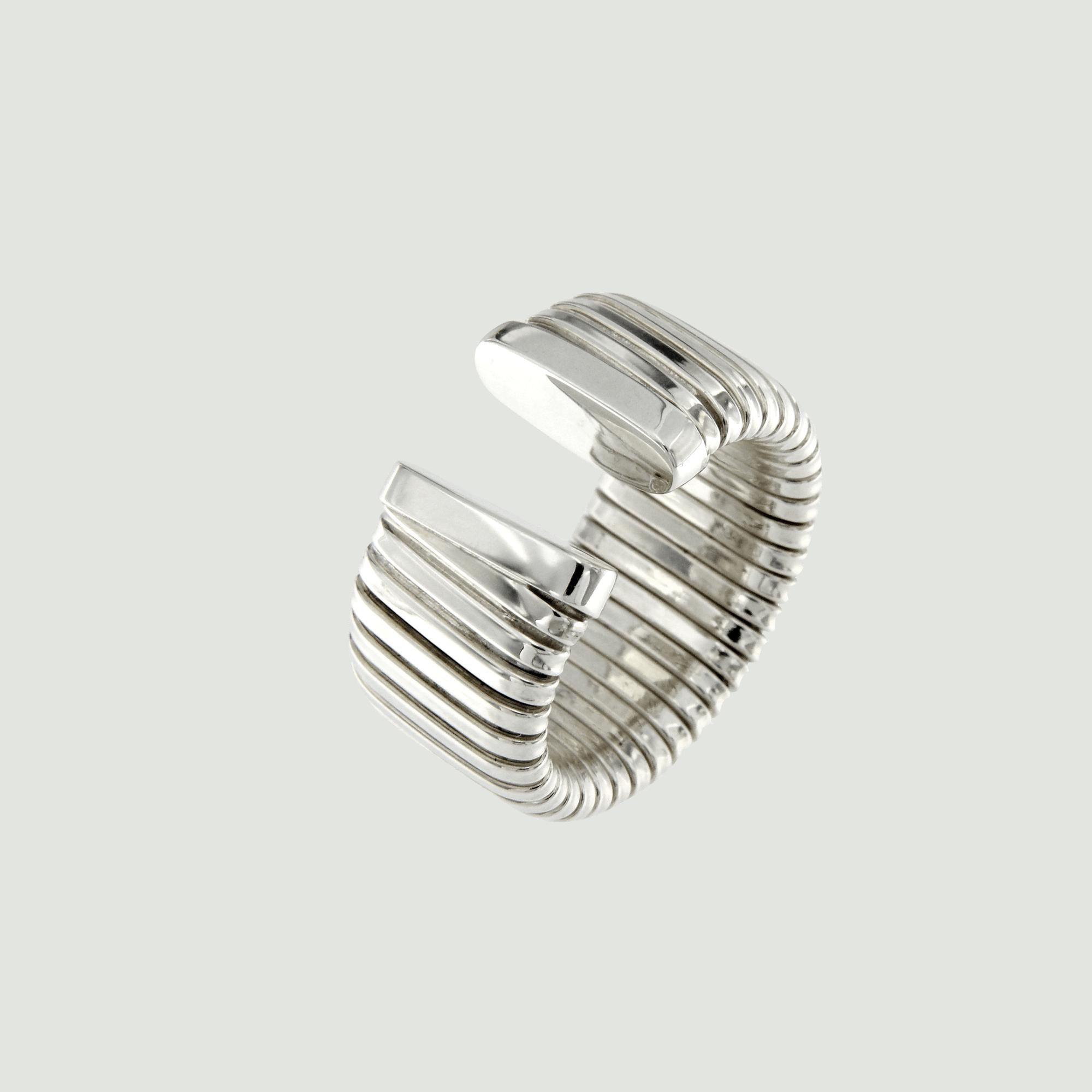 Anello tubogas in argento