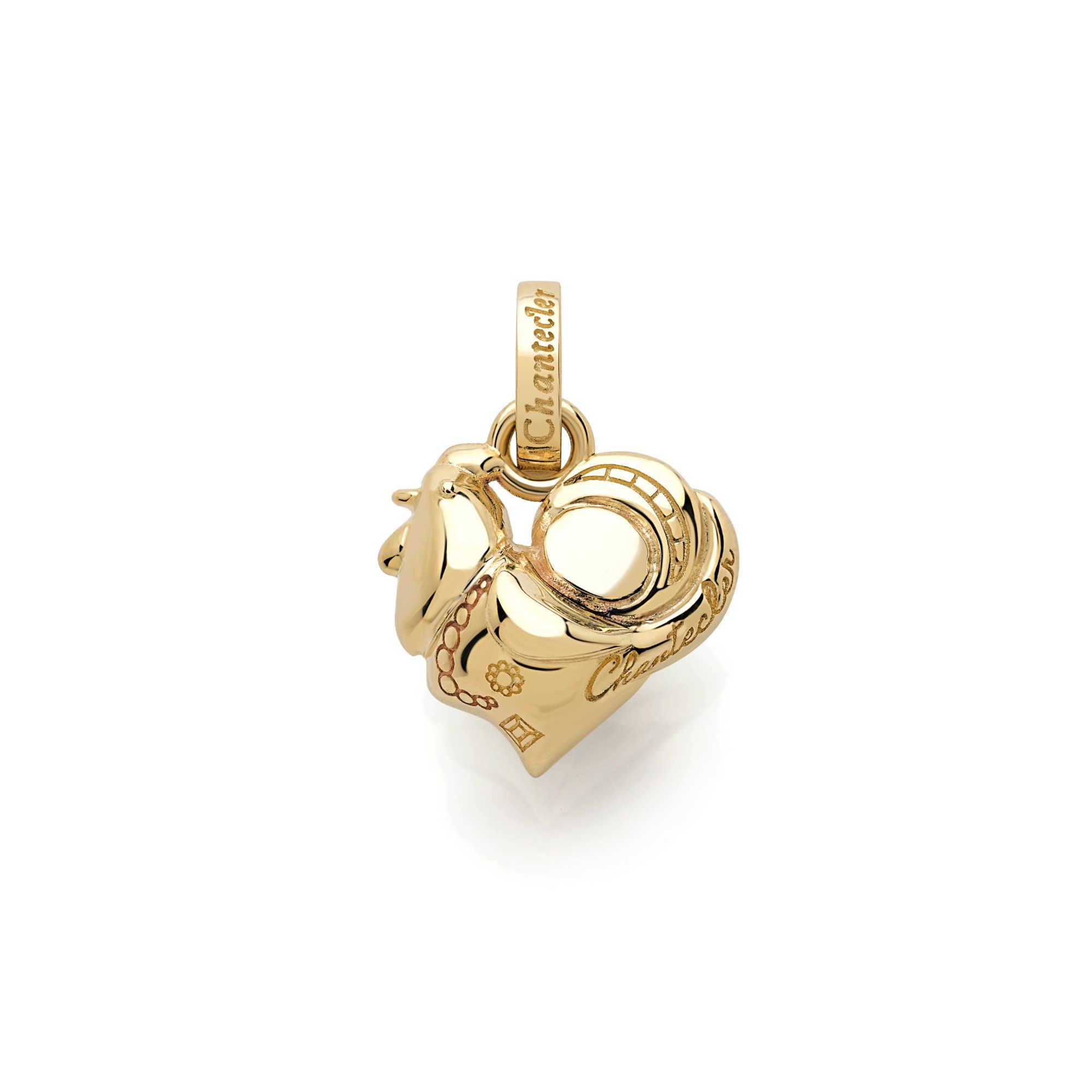 39987 Ciondolo Chantecler Suamem Logo oro giallo