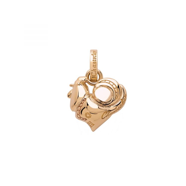 39988 Ciondolo Chantecler Suamem Logo oro rosa