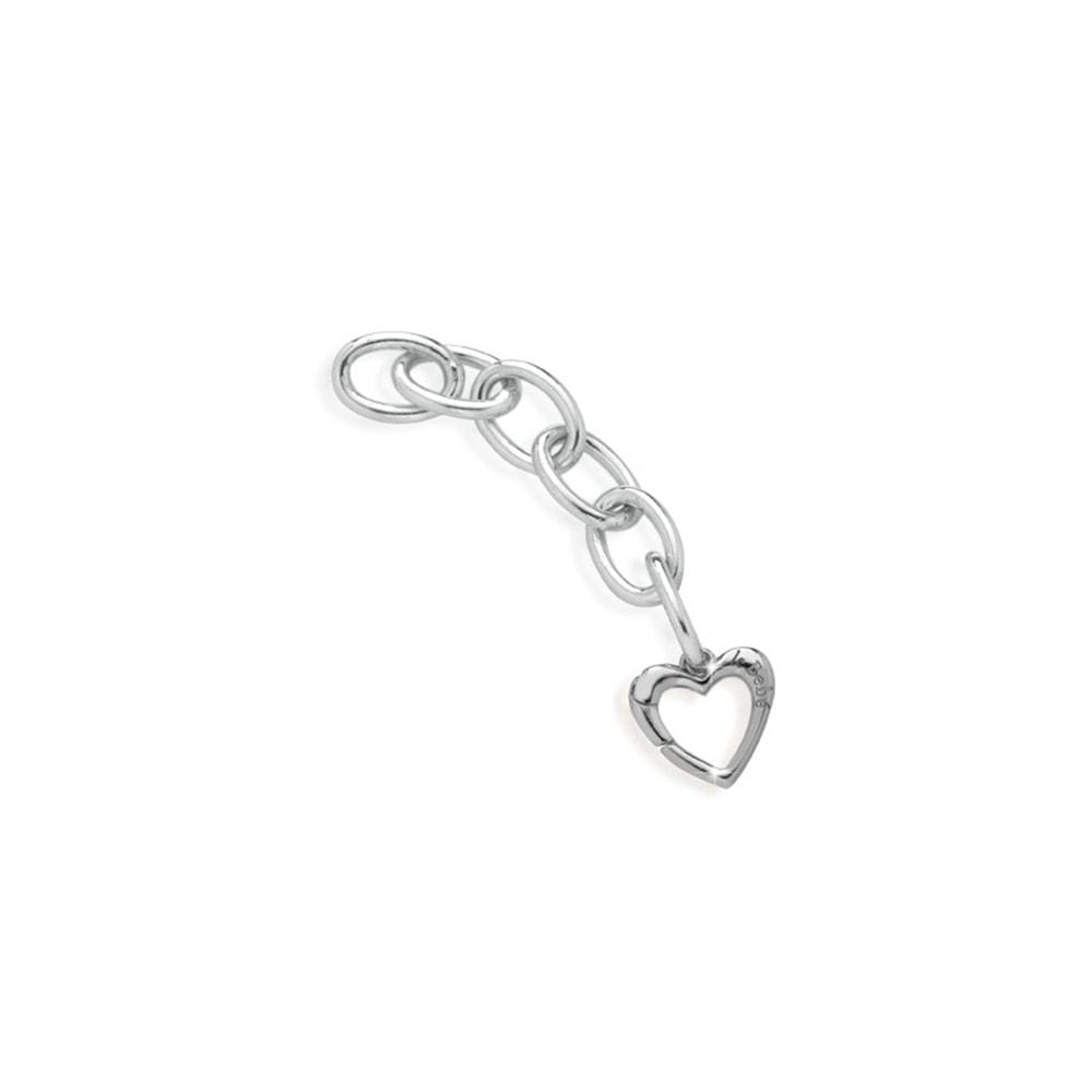 Link argento moschettone cuore Le Bebè