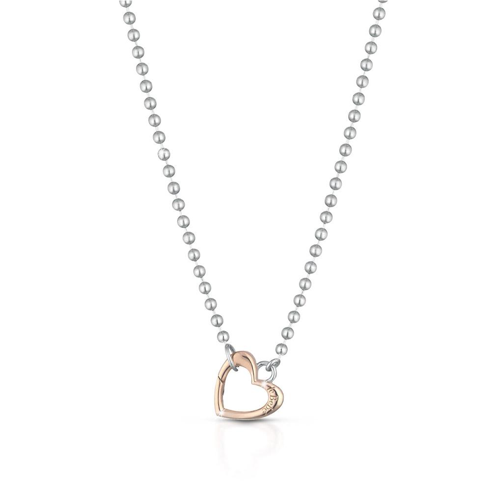 Collana argento cuore oro rosa Le Bebè