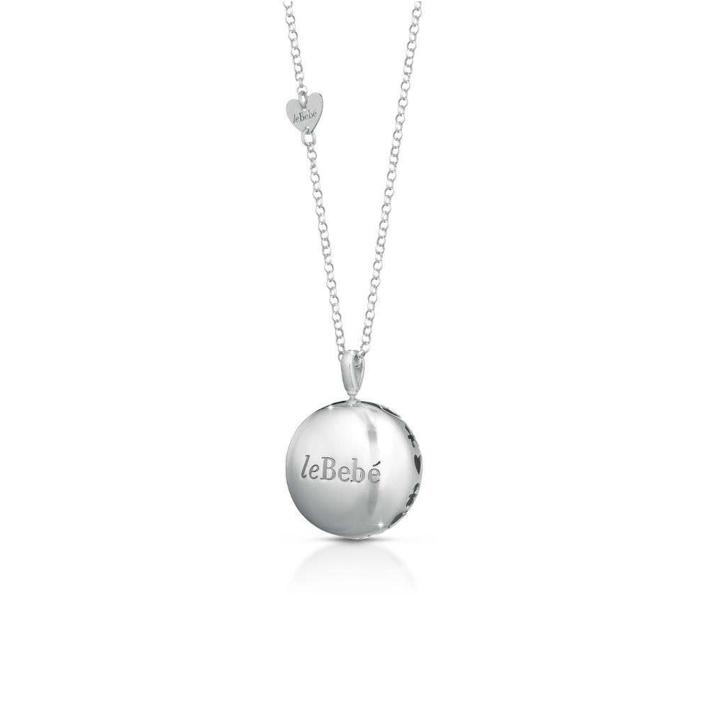 Ciondolo argento Luna e catena rolò cuore Le bebè