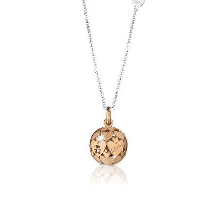 Ciondolo argento Placcato oro rosa Mondi Le Bebè