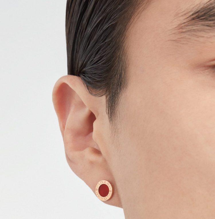 354728 mono orecchino bvlgari bvlgari corniola single earring man uomo sconto discount