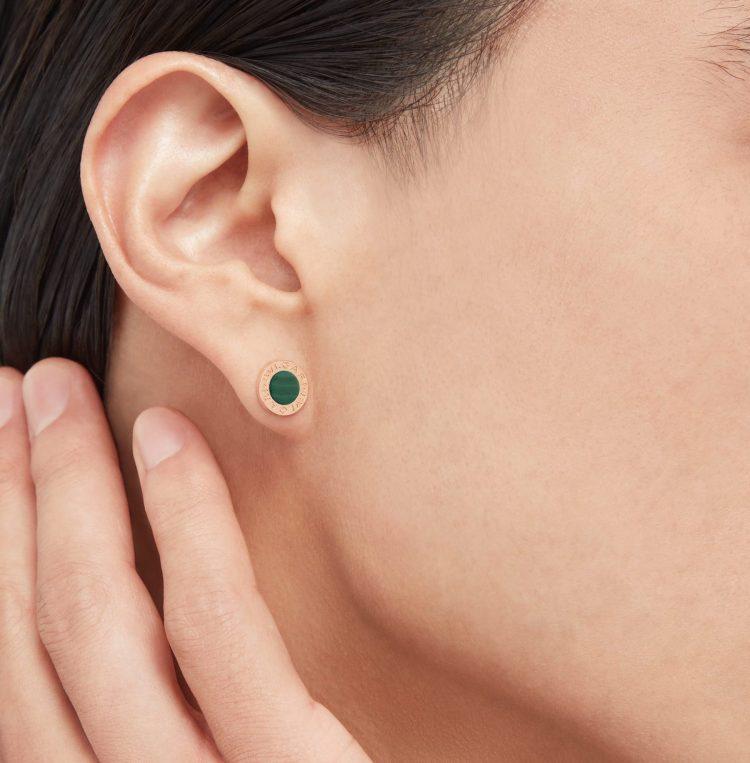 354729 malachite bvlgari bvlgari single earring mono orecchino uomo man sconto discount