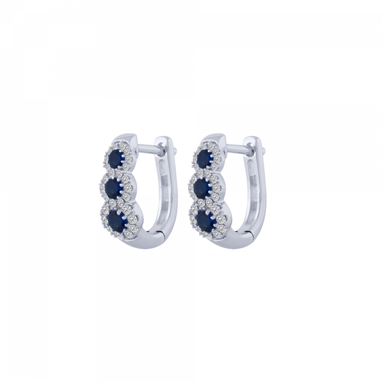 Orecchini diamanti e zaffiri