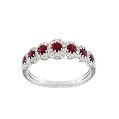 Anello veretta ribini e diamanti ruby eternelle ring engagement diamonds diamanti sconto discount