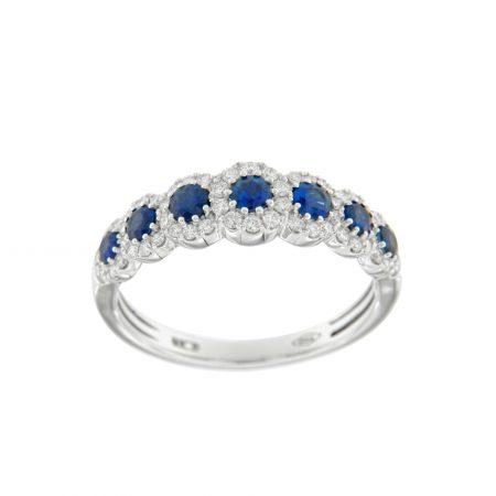 anello diamanti e zaffiri veretta codice sconto ring diamond sapphires