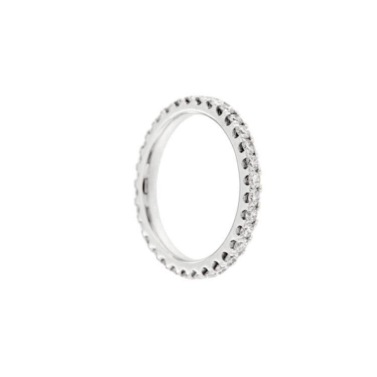 Anello veretta diamanti oro bianco eternelle diamonds ring sconto discount R180142B