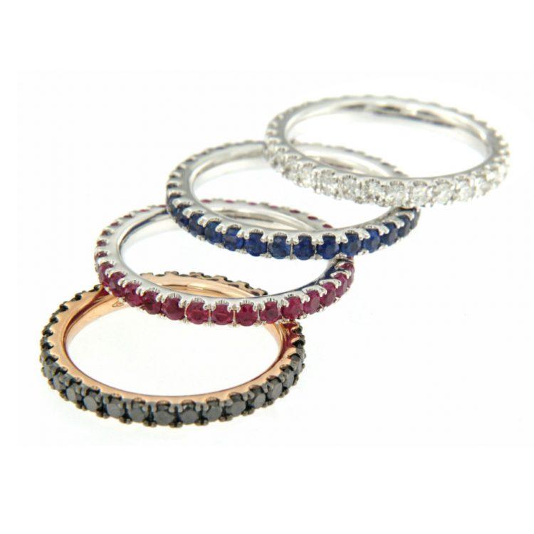 Anello veretta diamanti oro bianco eternelle diamonds ring sconto discount R180142B_a