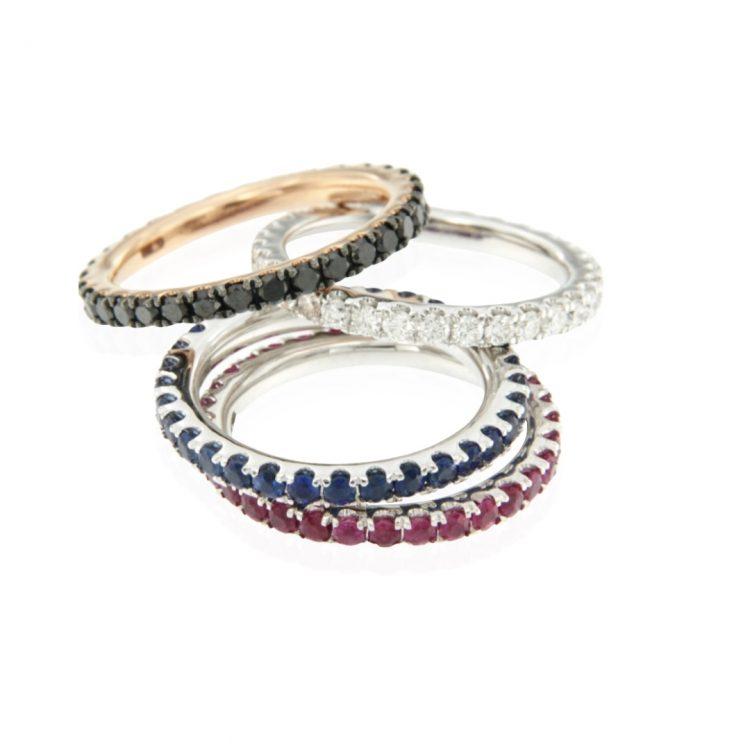 Anello veretta diamanti oro bianco eternelle diamonds ring sconto discount R180142B_b