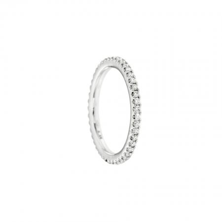 anello veretta diamanti oro bianco eternelle fedina brillanti diamonds ring sconto discount R180143B