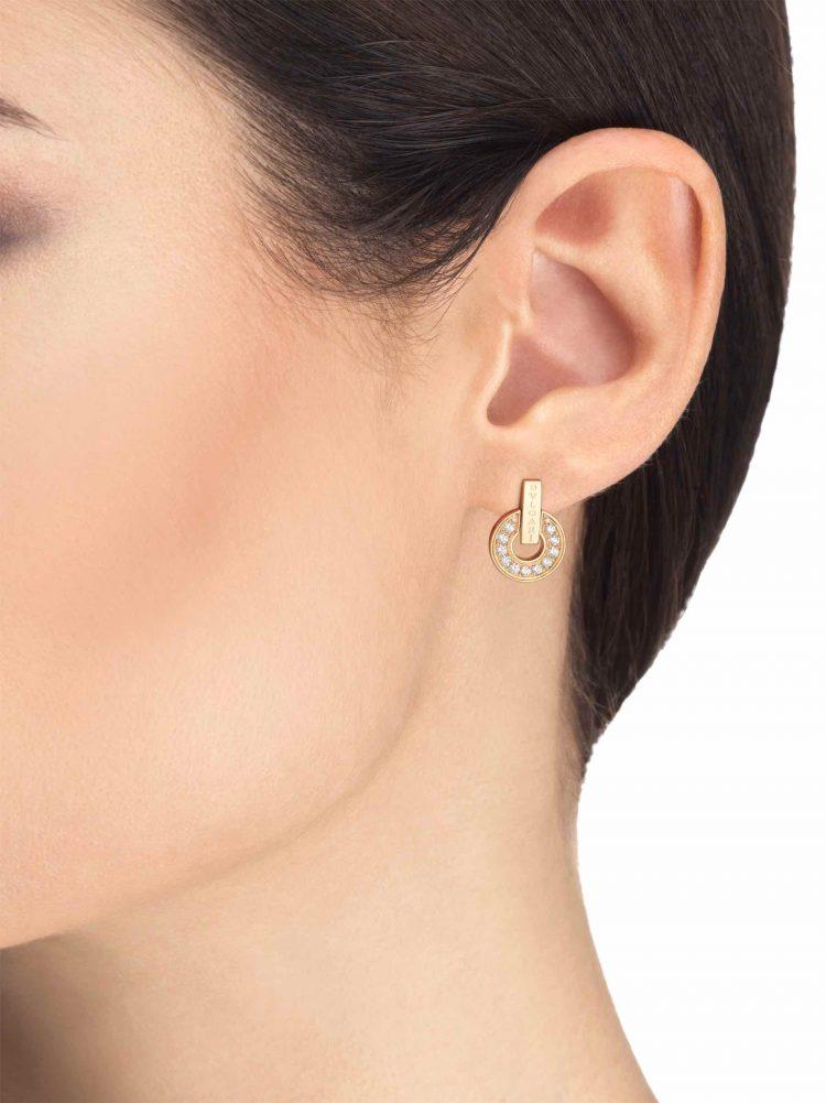 BVLGARI orecchini pavè diamanti