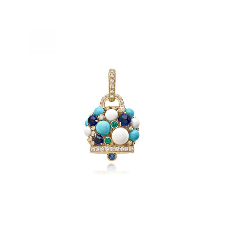 Ciondolo campanella BLU CHANTECLER CAPRI 1947 blu