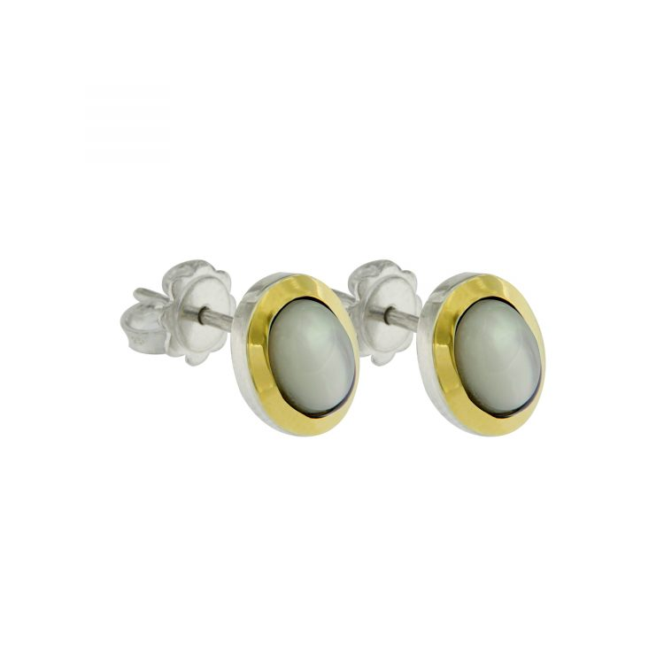 Orecchini tubogas argento e madreperla ORT001mp2