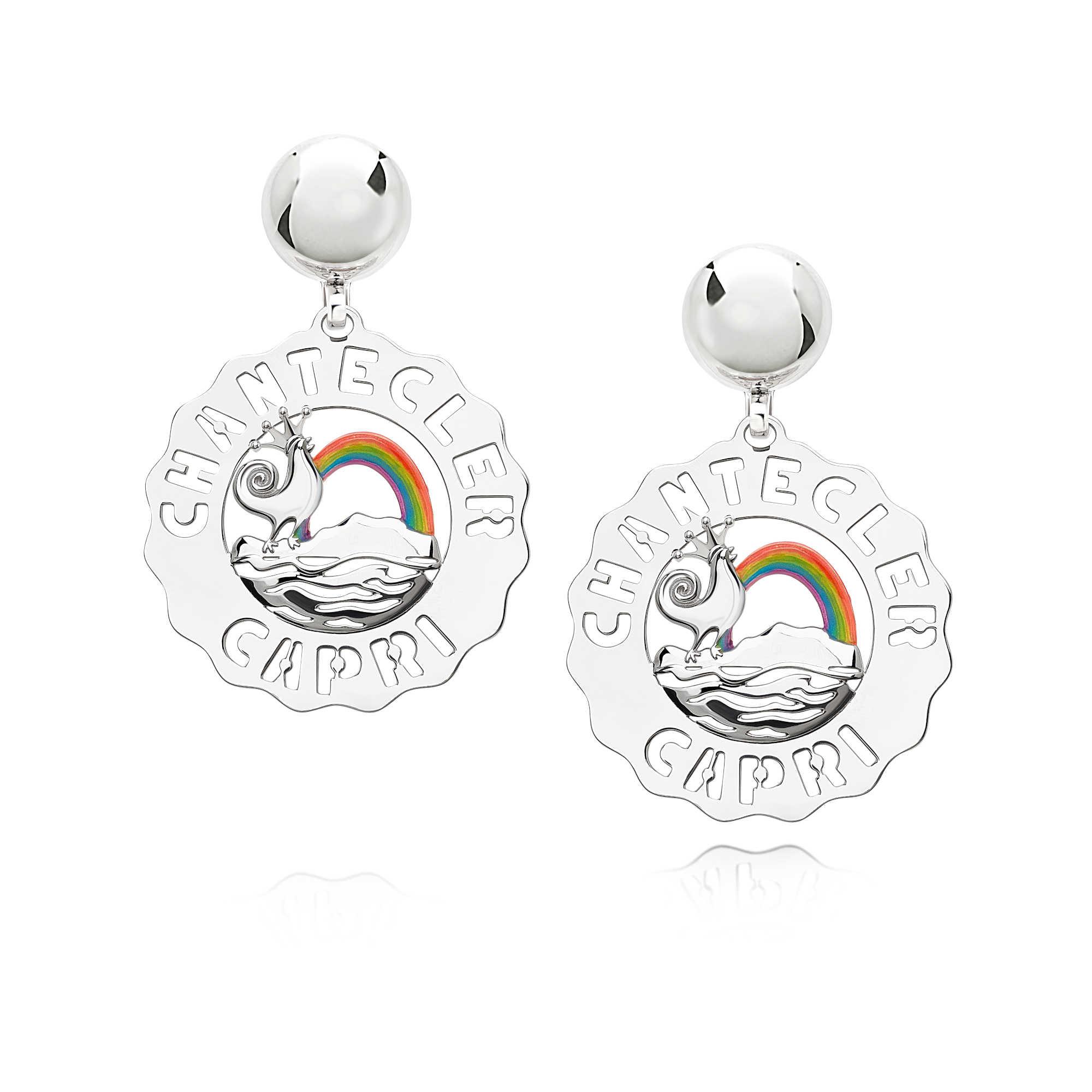 orecchini logo arcobaleno chantecler piccoli 40181