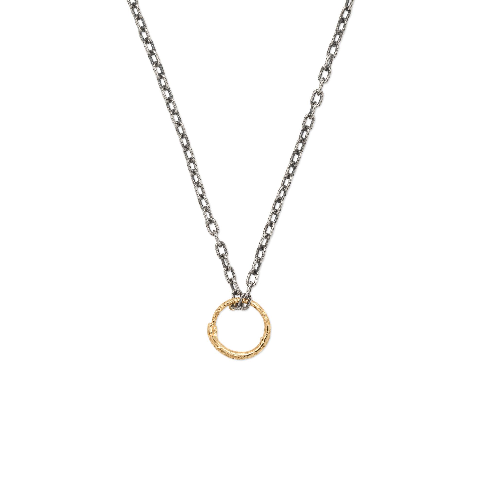 Collana GUCCI Ouroboros pendente anello serpente oro