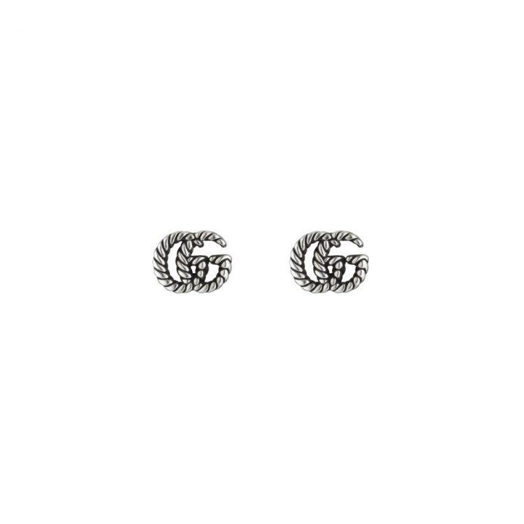 orecchini argento doppia GG GUCI