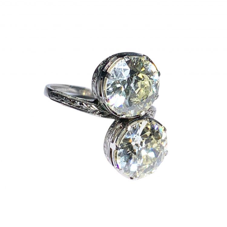 Anello antico diamanti
