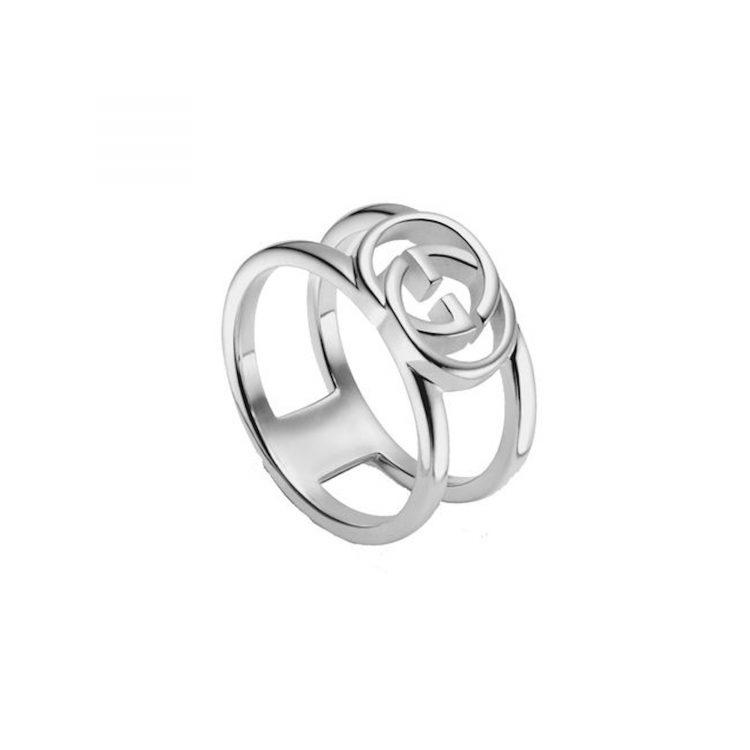 Anello GUCCI shop online argento con motivo Doppia G ybc295716