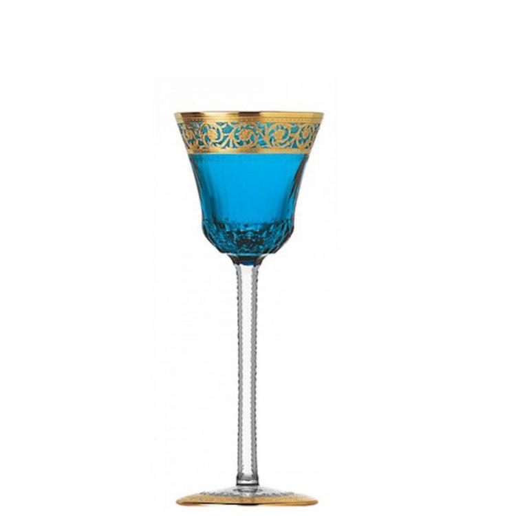 Thistle Saint Louis Bicchiere Sky Blu gold sky-blue