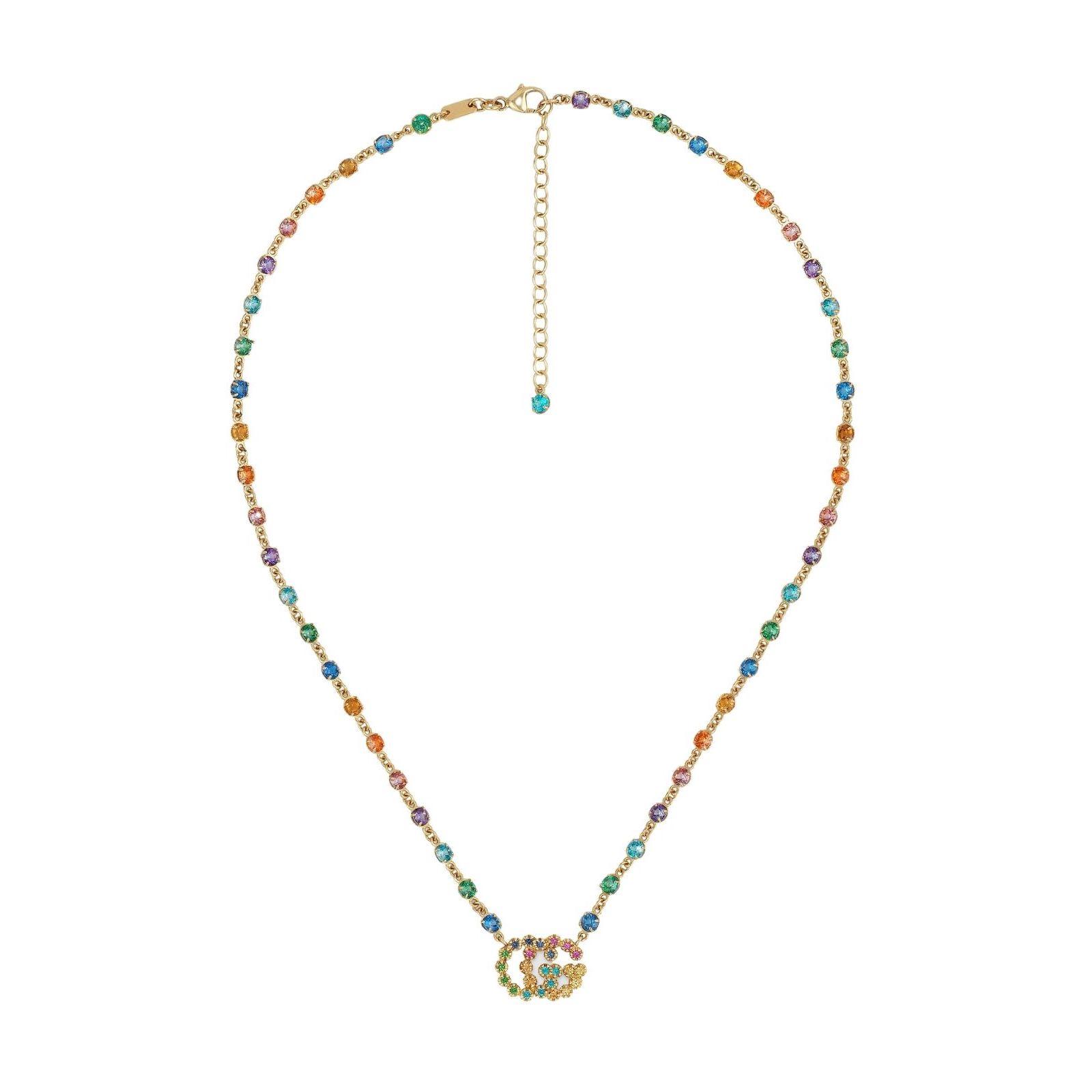 gucci 481646_J6343_8518_001_100_0000_Light-Collana-con-GG-Running-e-pietre-multicolor necklace multicolor sconto discount