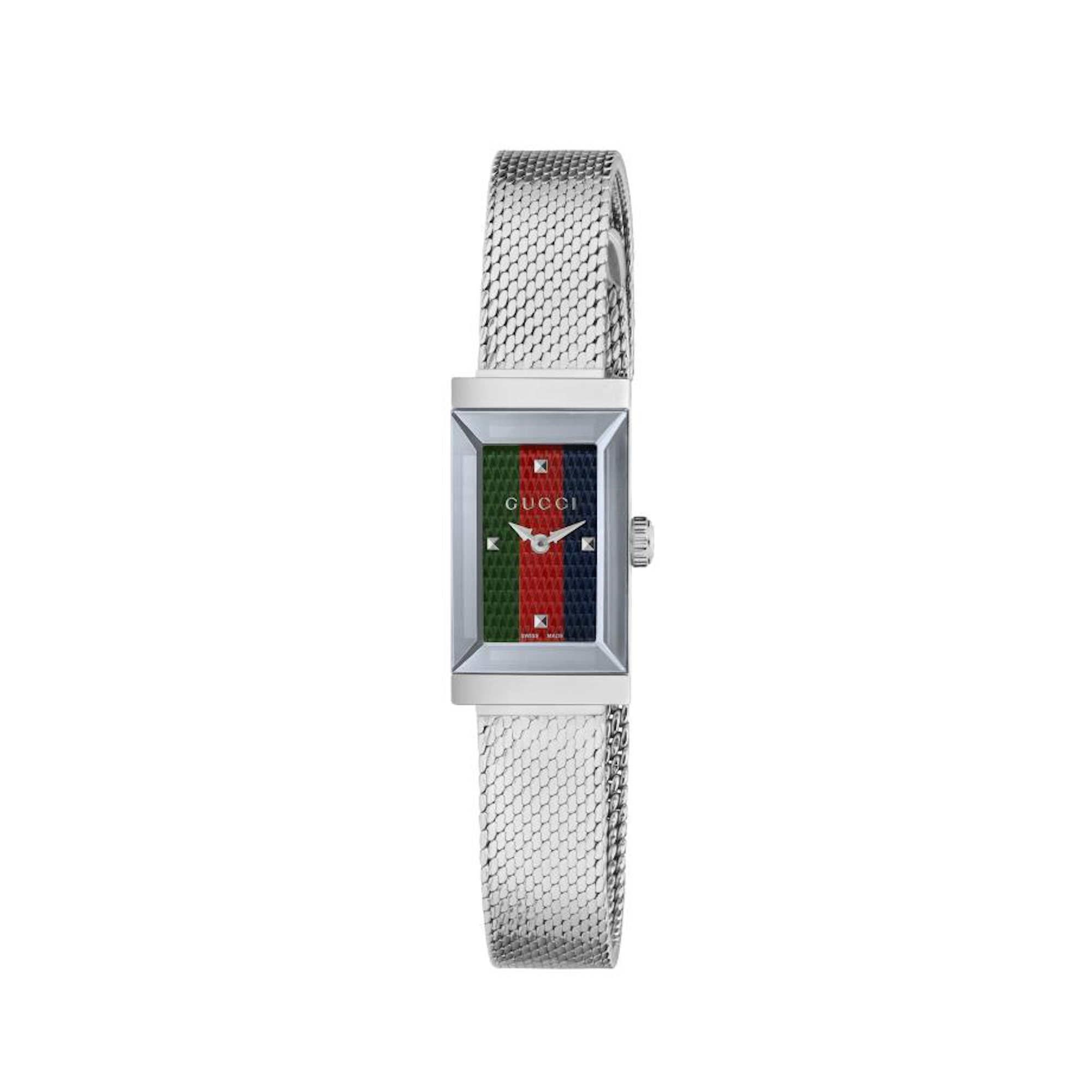 Orologio Gucci G-FRAME 14 X 25 MM ACCIAIO watch steel