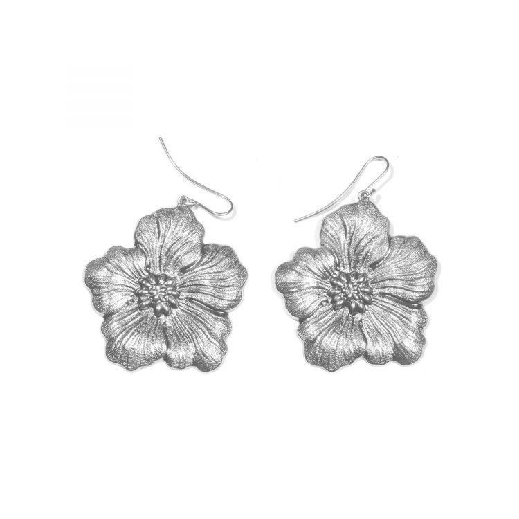 orecchini buccellati gardenia chiusura amo MEDI EARRINGS SILVER BLOSSOM