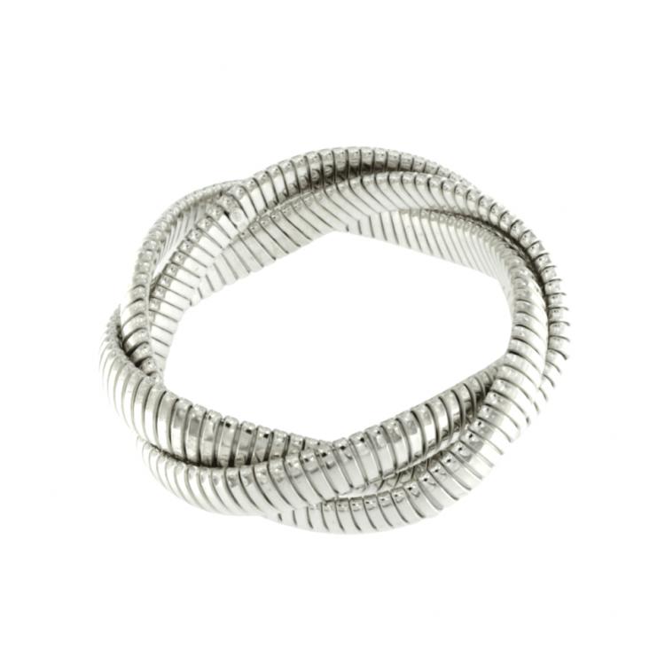Bracciale Tubogas argento torchon