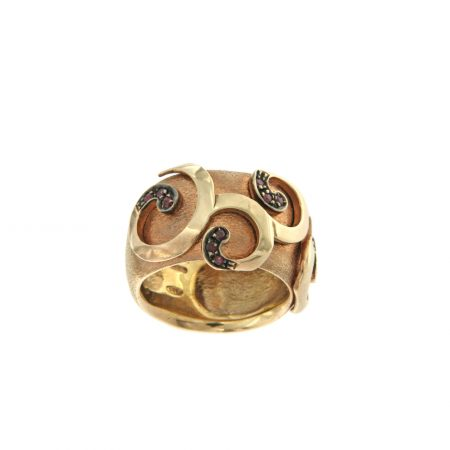 De Maria anello argento placato oro rosa rubini silver ring ruby