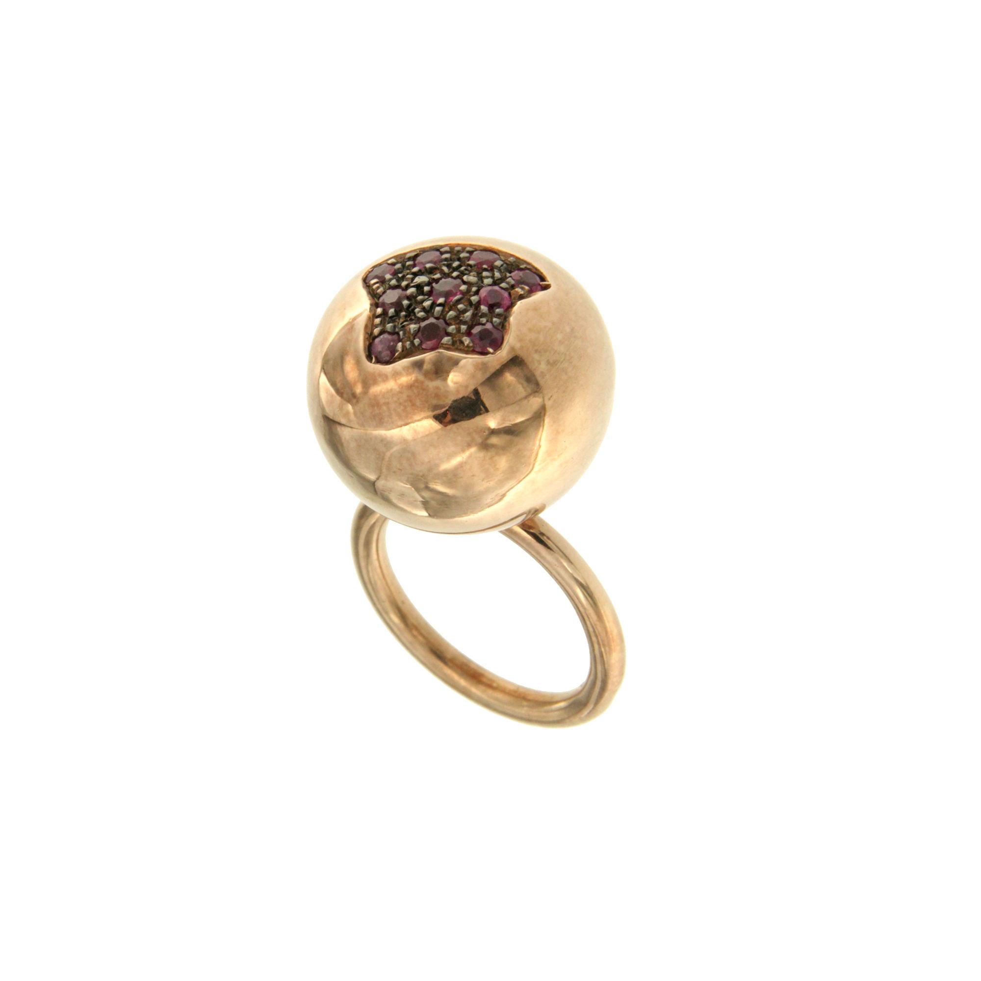 De Maria anello in argento con rubinisilver ring rubies