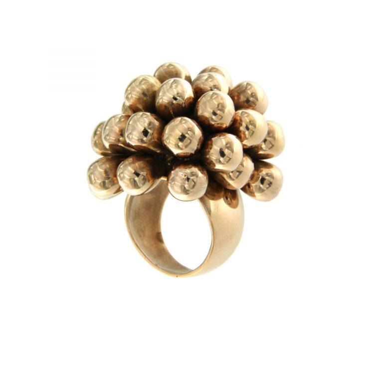 Anello oro rosa argento de Maria silver ring rubies rubini