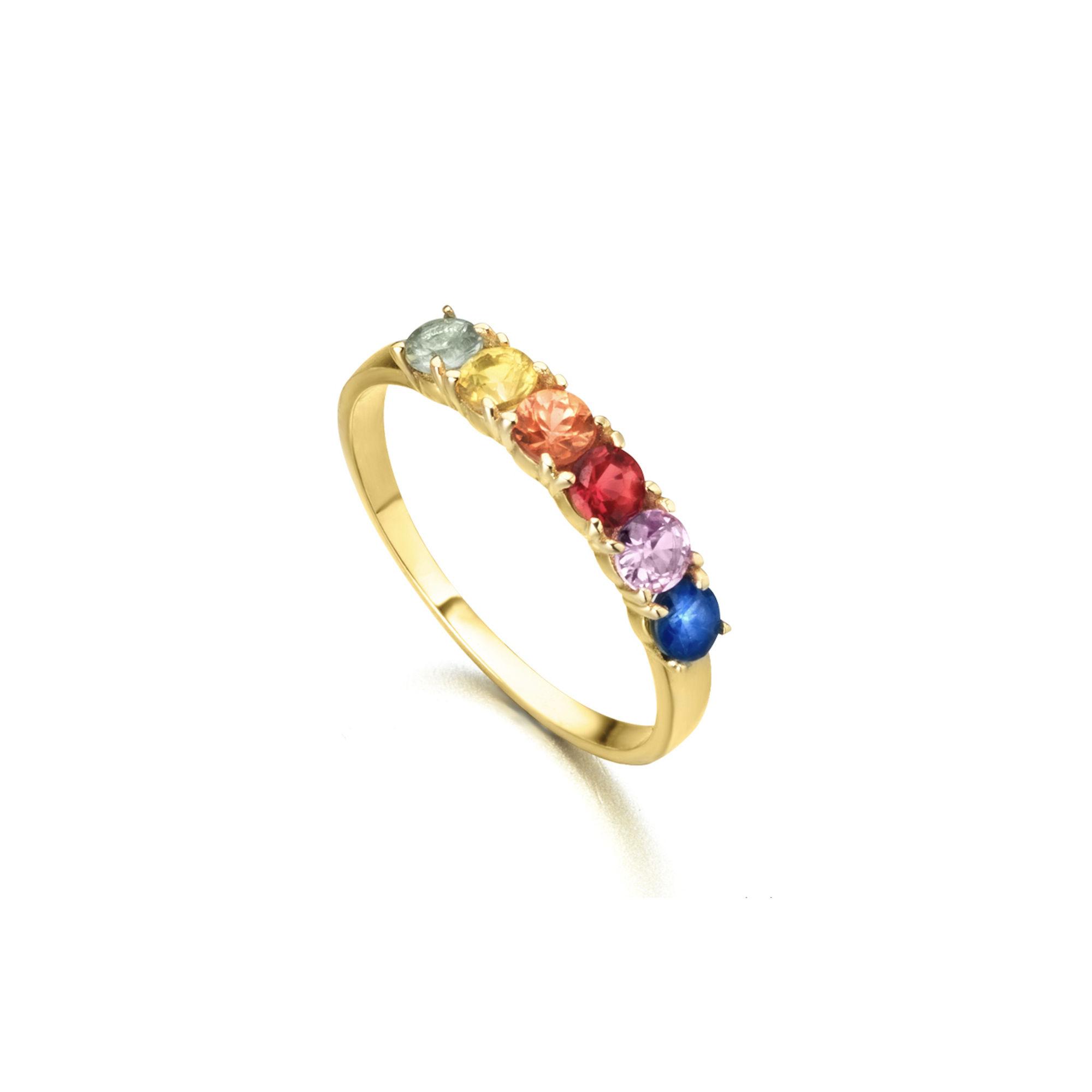 LE CARRÈ anello zaffiri multicolor ring engagement sapphires discount sconto