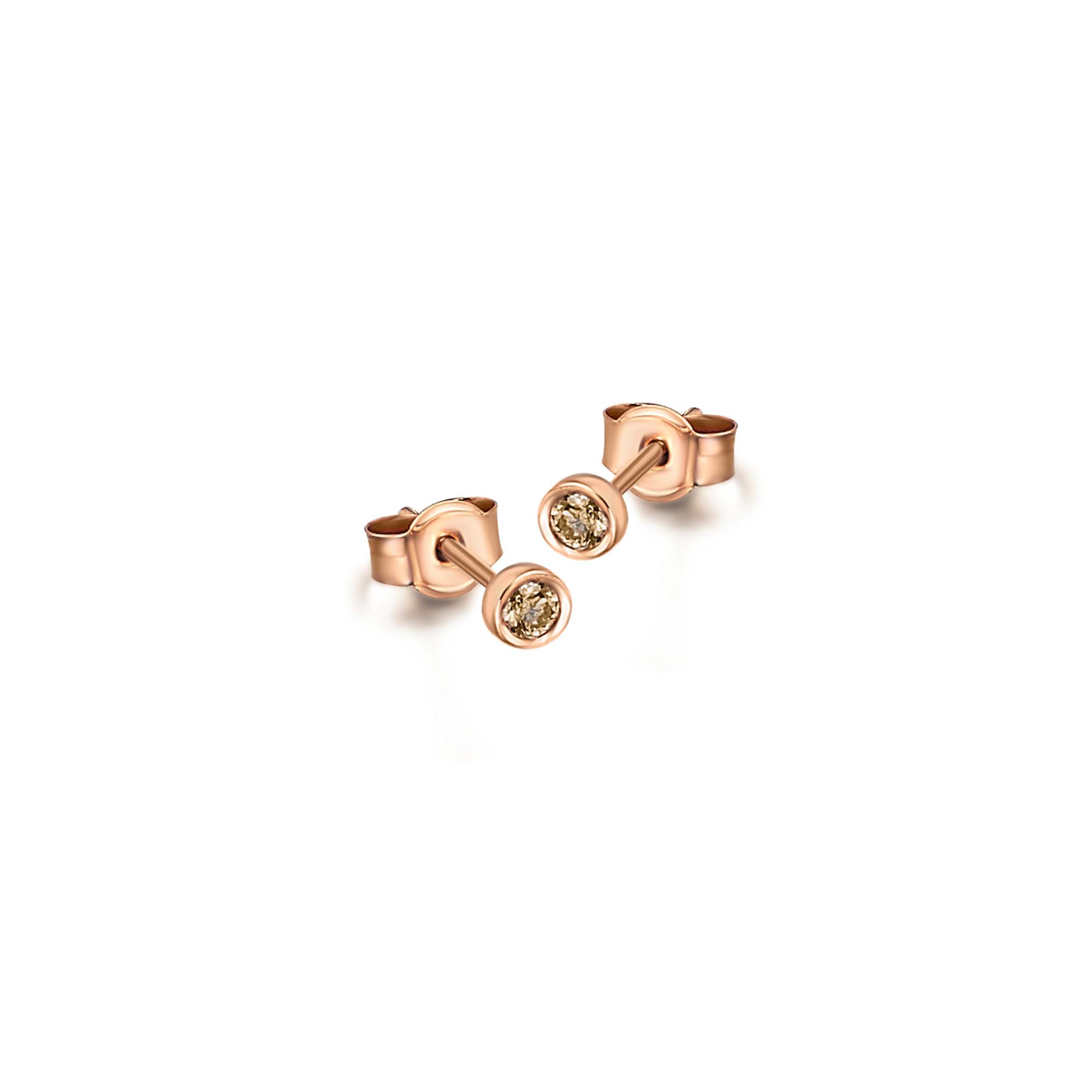 GB020ORBR orecchini oro rosa diamanti brown diamonds earrings sconto discount
