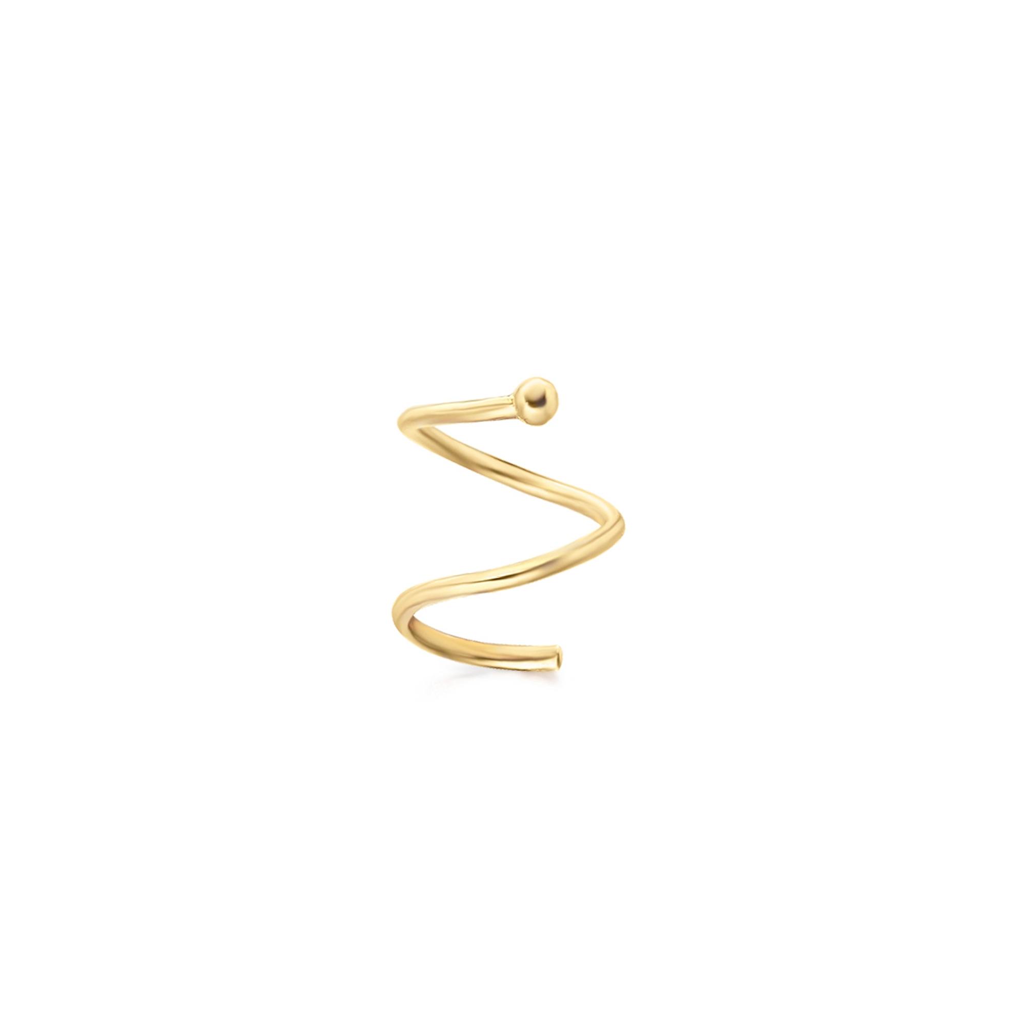 GB050OA mono orecchino a spirare oro giallo single earring gold spiral